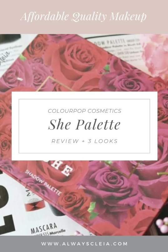 ColourPop Karrueche She Palette Review