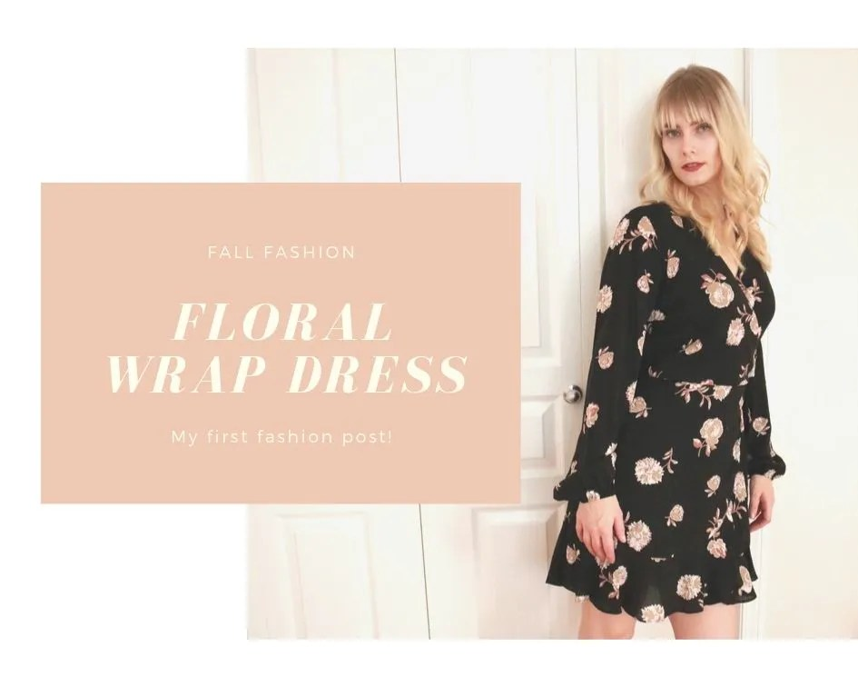 Styling a Floral Wrap Dress | Attempting to be stylish