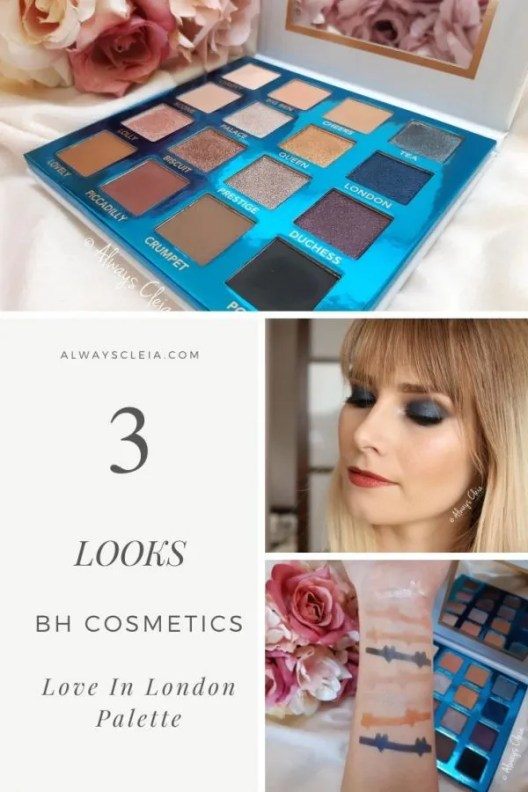 BH Cosmetics Love In London Palette 3 Looks