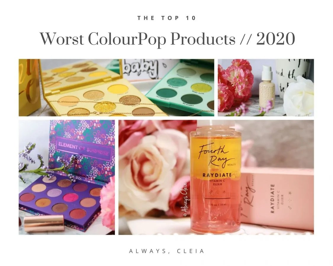 Worst 10 Products from ColourPop & Fourth Ray Beauty