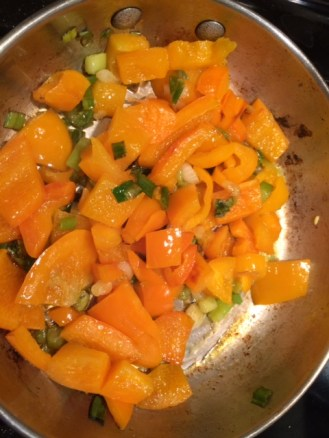 Yellow bell pepper and sweet pepper mix for tacos