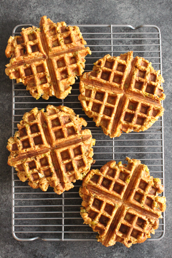These Thanksgiving stuffing waffles are the BEST way to enjoy Thanksgiving leftovers!
