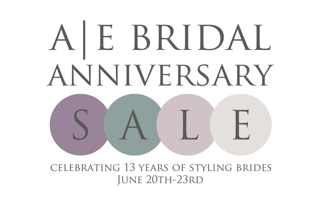 A|E Bridal Anniversary Sample Sale June 20th-23rd