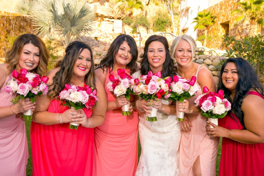 Brides and wedding party