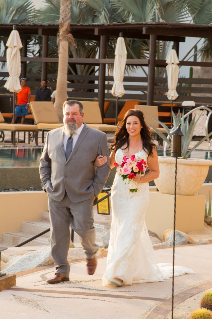 Always Elegant Bridal bride Madison wearing Allure Bridals in Cabo