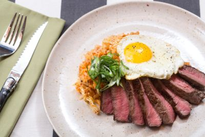 Blue Apron Steak & Eggs