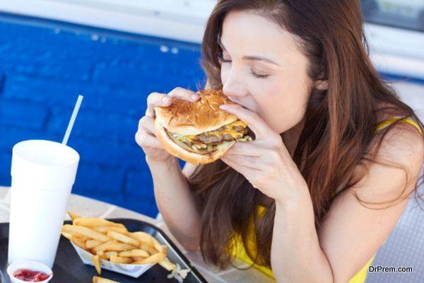 eating junk food