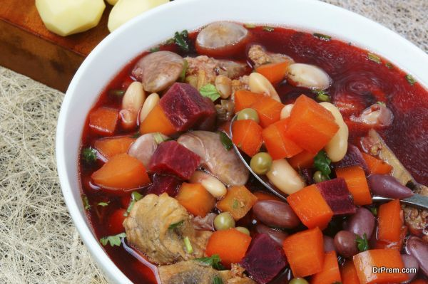 Vietnamese food, vegetable soup