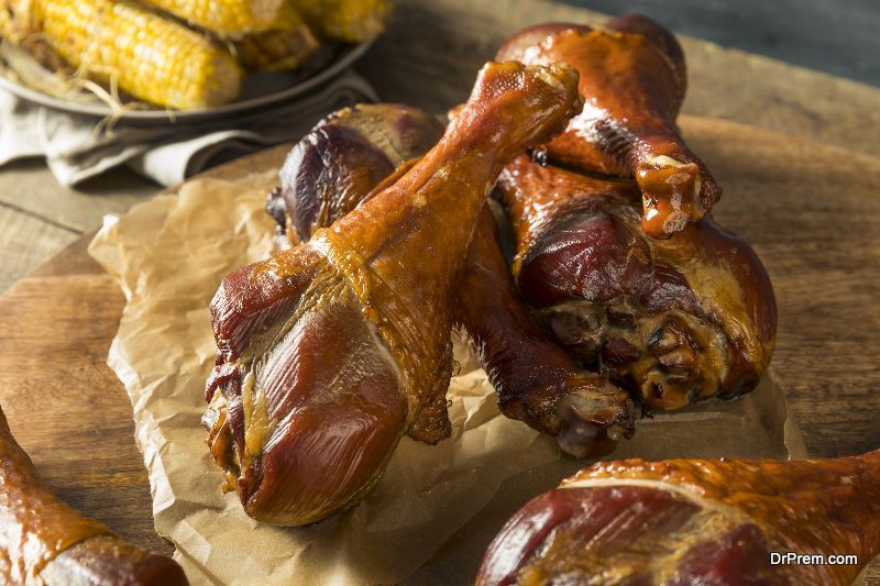 Red Wine Braised Turkey Legs