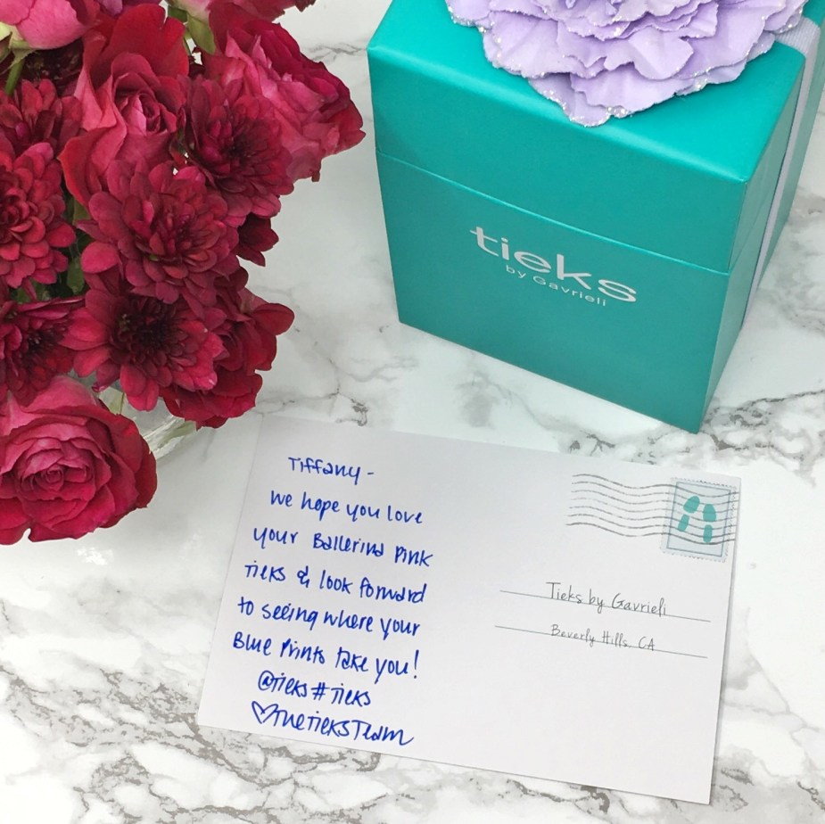 Tieks Box With Letter