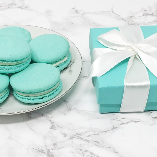 Tiffany Box and Macarons