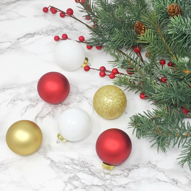 Glitter Christmas Ornaments 01