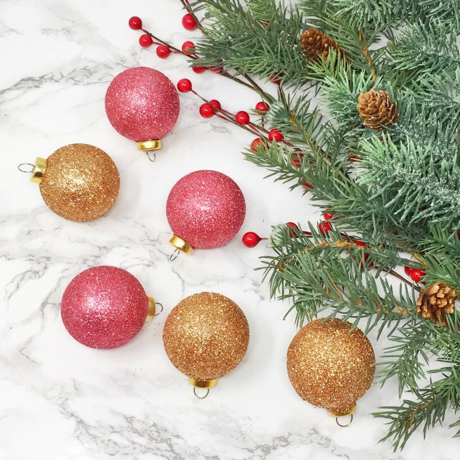 Glitter Christmas Ornaments 02