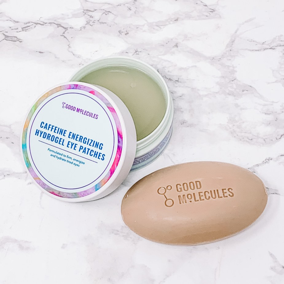 Good Molecules Skincare Review - Caffeine Energizing Hydrogel Eye Patches and Clarify & Cleanse Bar