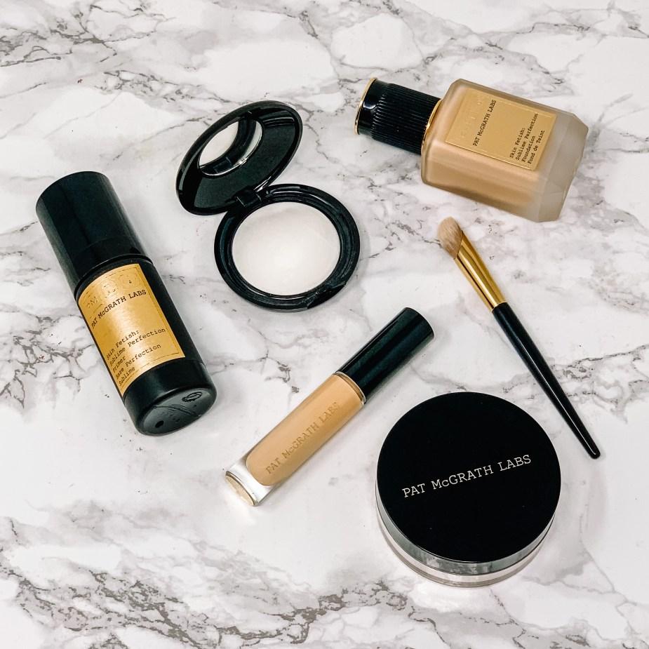 Pat McGrath Labs Concealer, Foundation, Blurring Under Eye Powder, Makeup Primer, Concealer Brush, Setting Powder, LM8