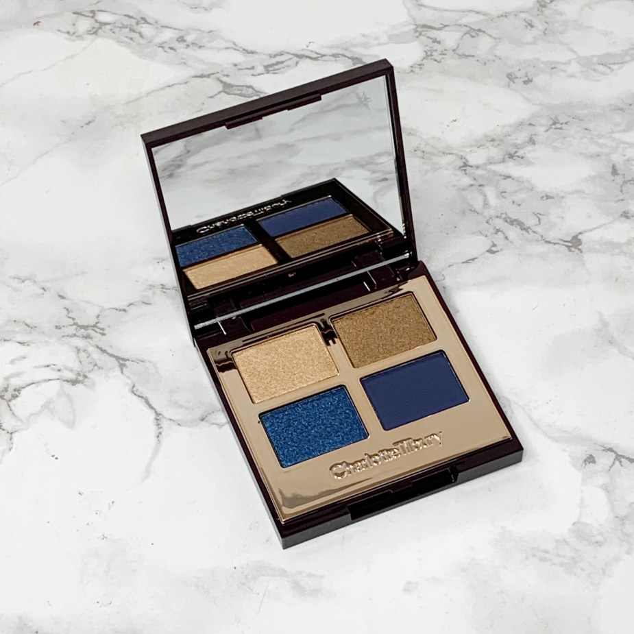 Charlotte Tilbury Super Blue Eyeshadow Palette and Eyeliner Review