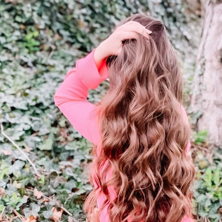 Long brown curly hair - FHI Heat curling iron review