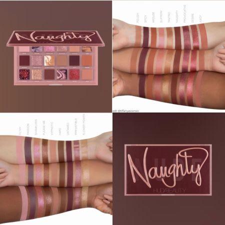 Huda Beauty Naughty Nude Eyeshadow Palette Swatches