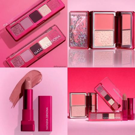 Natasha Denona Mini Love Collection - Mini Love Eyeshadow Palette, Love Cheek Duo, and Amorosa Lipstick