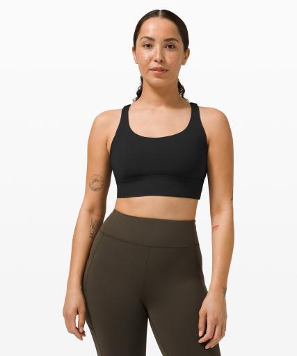 Lululemon Energy Bra Long Line Front - Best Sports Bra for large bust - best sports bra for Large cup small band size