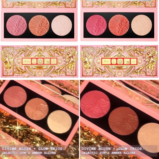 Pat McGrath Labs Holiday 2021 Celestial Odyssey Collection - Blush & Glow Duos - Galactic Sun & Amber Allure
