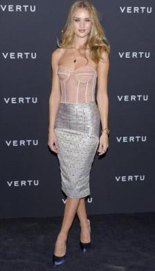 Corset with pencil skirt