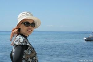 happy near the beach