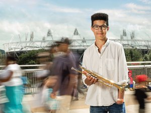 LSO On Track member Joe at the London 2012 Olympic Park