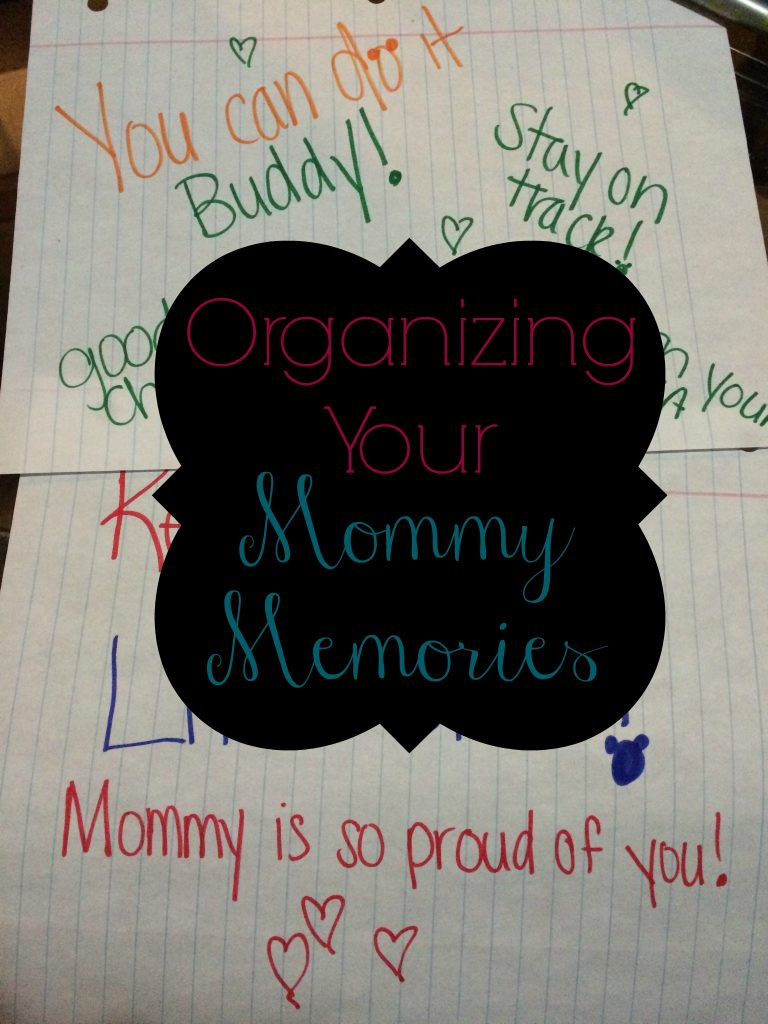 Organizing Your Mommy Memories -- how to stay organized and keep all those special memories | www.alwaysmovingmommy.com