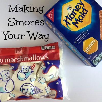 Making Smores Your Way