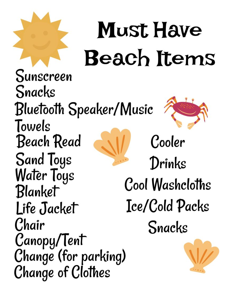 10 Must Haves for a Day at the Beach | AlwaysMovingMommy.com | Spending a day at the beach doesn't mean you need a lot of stuff.