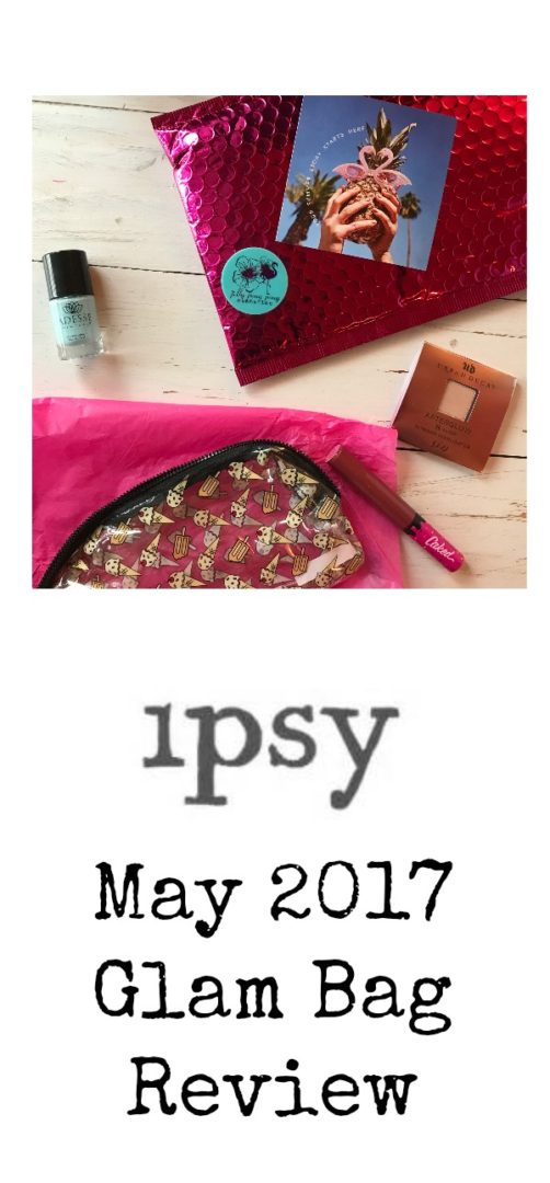 Ipsy Glam Bag Review May 2017 | AlwaysMovingMommy.com | Five new products to try with this month's Ipsy subscription