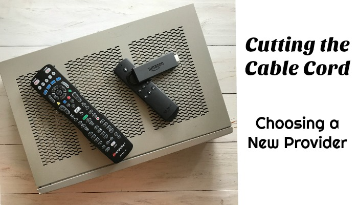 Cutting the Cable Cord: Choosing a New Provider | Always Moving Mommy