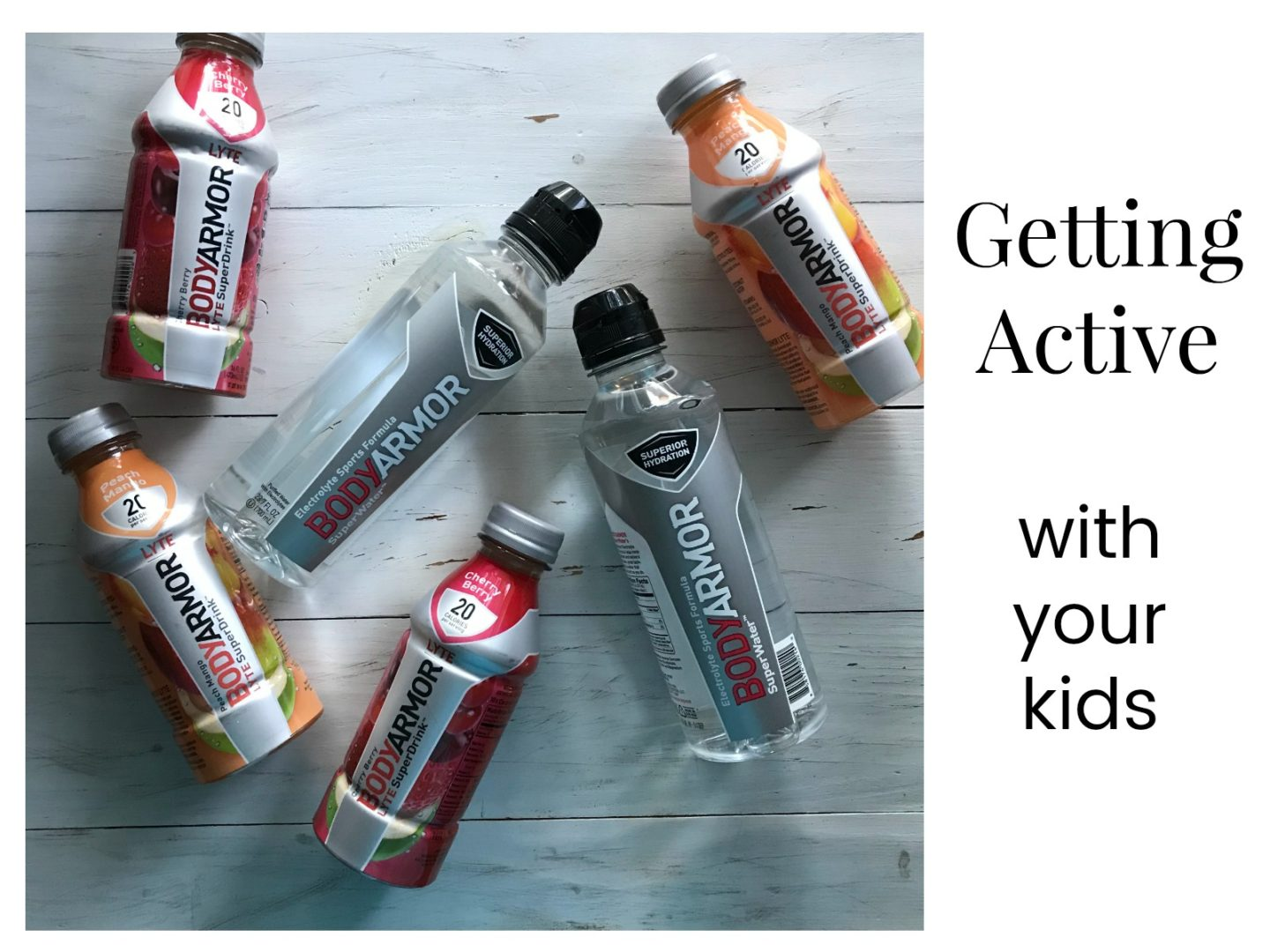 Getting Active with Your Kids | AlwaysMovingMommy.com | Exercising doesn't have to be another chore for you to cross off your to do list. Getting active with your kids is a great way to help get in shape. #ad #Switch2BODYARMOR #getactive