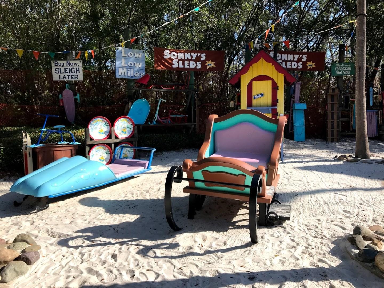 blizzard-beach-sled area