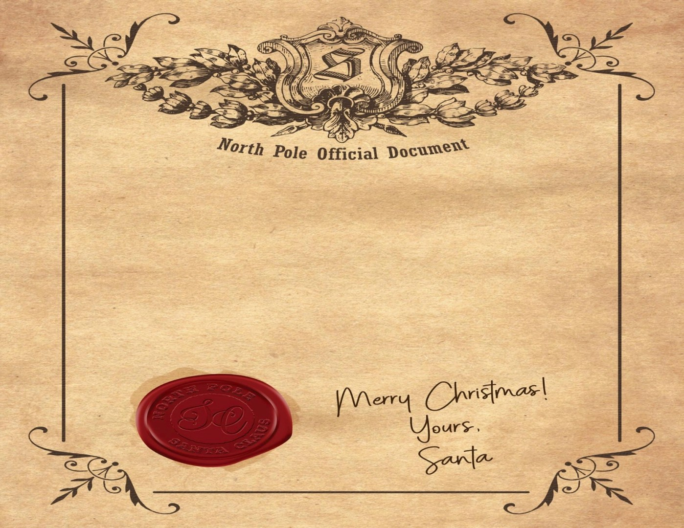 Official North Pole Santa Certificate | AlwaysMovingMommy.com