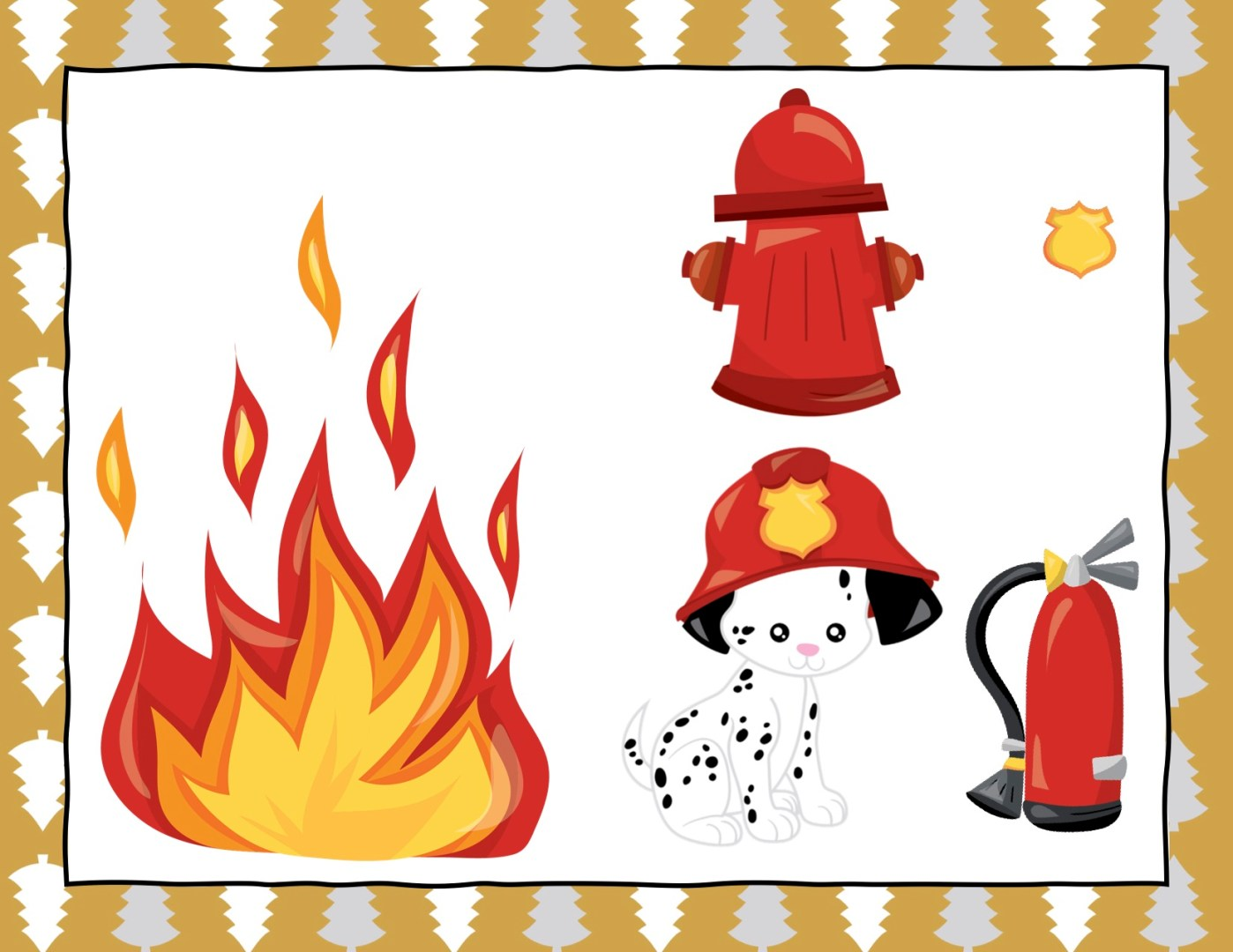 Free Elf on the Shelf firefighter props | Always Moving Mommy
