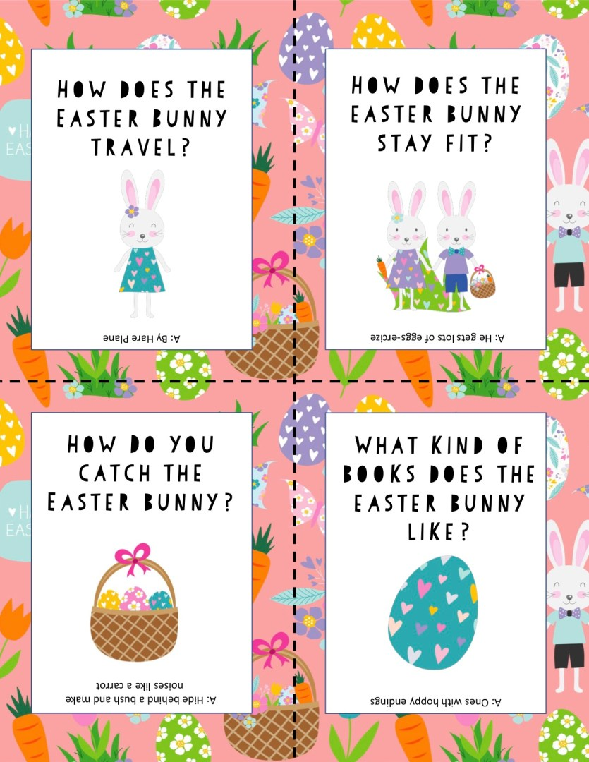 Free Printable Easter Lunch Box Jokes