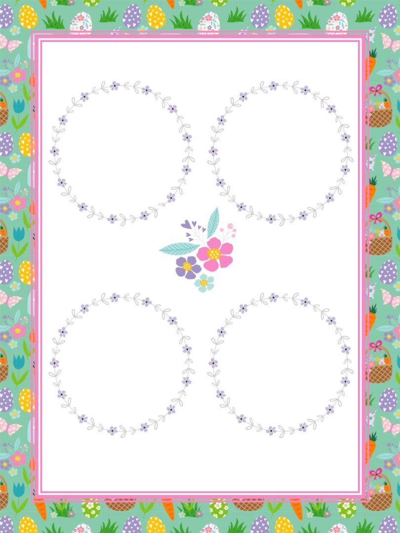 Free Easter Printable Blank Easter Notes