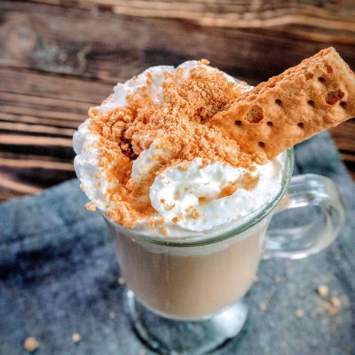 Making a Graham Cracker Latte at Home