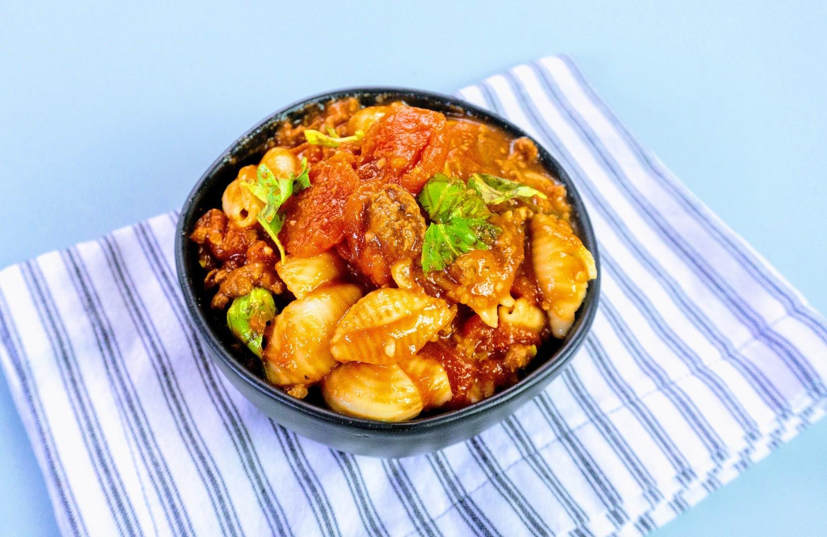 Enjoy a bowl of hearty Italian goulash