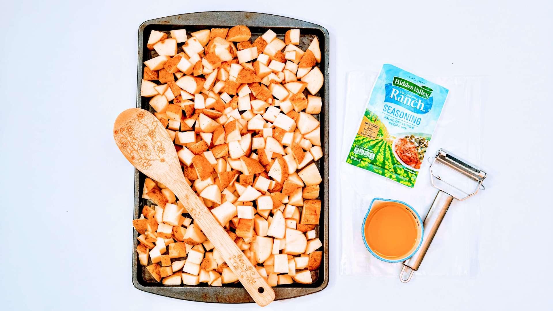 Sheet pan potato ingredients