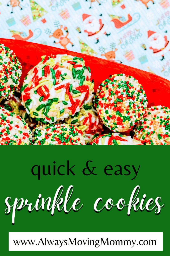 How to Make Quick & Easy Sprinkle Cookies | AlwaysMovingMommy.com