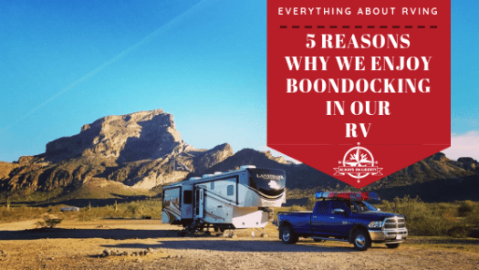 AOL - Reasons for Boondocking