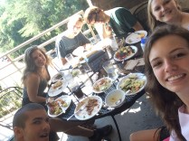 Tuesday, 1:24pm: Lunch with the crew