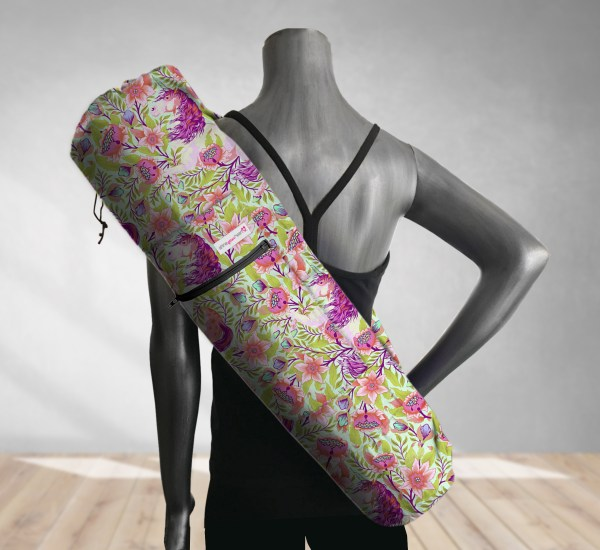 Magical Poppies Pink Yoga Bag 201904A