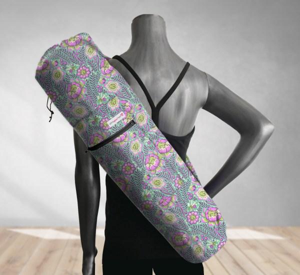 Purple Petal Head Yoga Bag 201907A