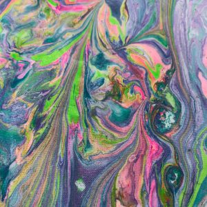 Water Marbled Fabric - Daydream