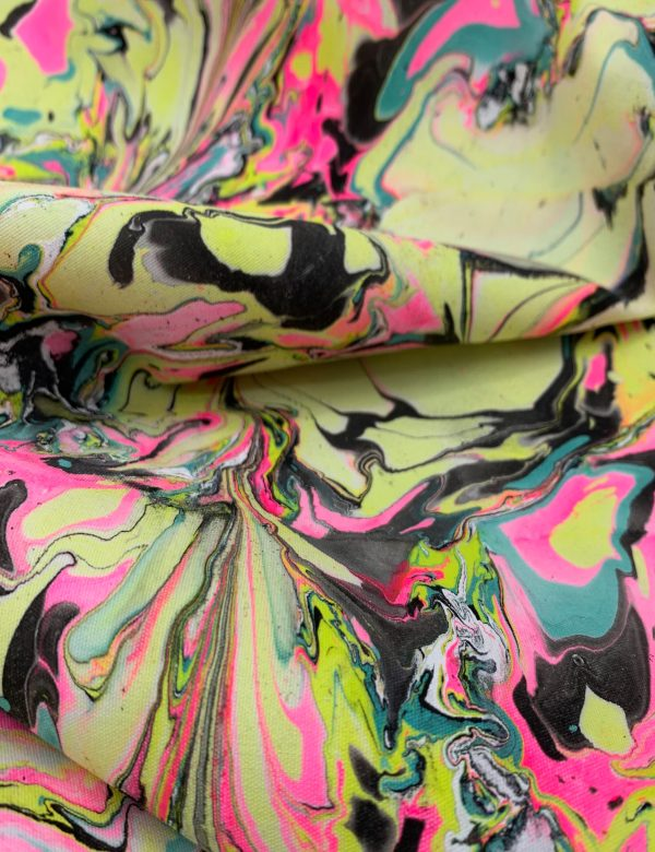 Water Marbled Fabric - Razzle Dazzle