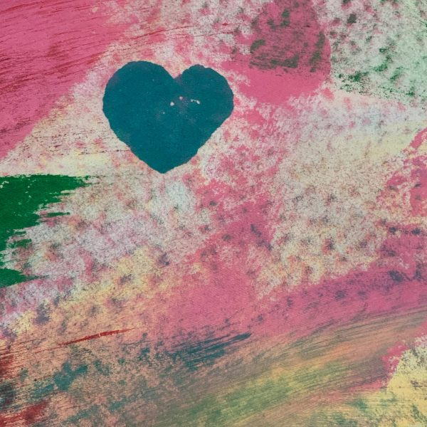 Hand Painted Fabric - Southern Love